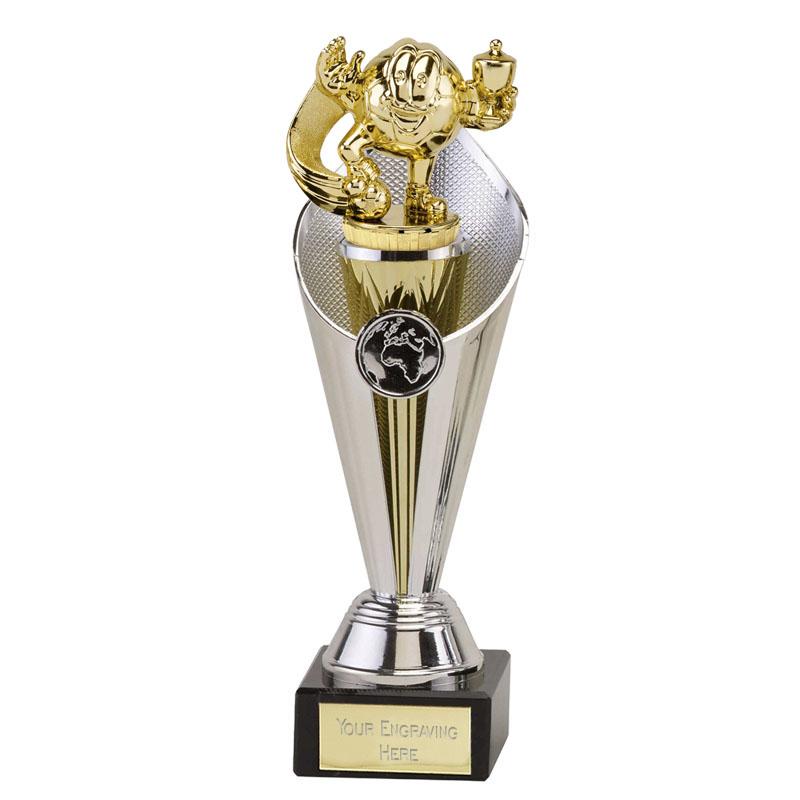 22cm Gold Football Figure On Beacon Award