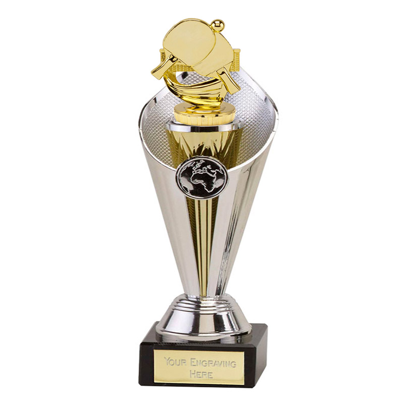 22cm Gold Table Tennis Figure on Table Tennis Beacon Award