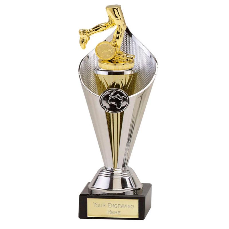22cm Gold Running Neutral Figure On Beacon Award