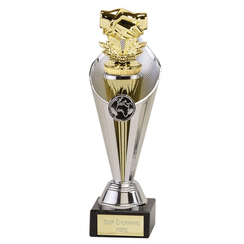22cm Gold Handshake Figure On Beacon Award