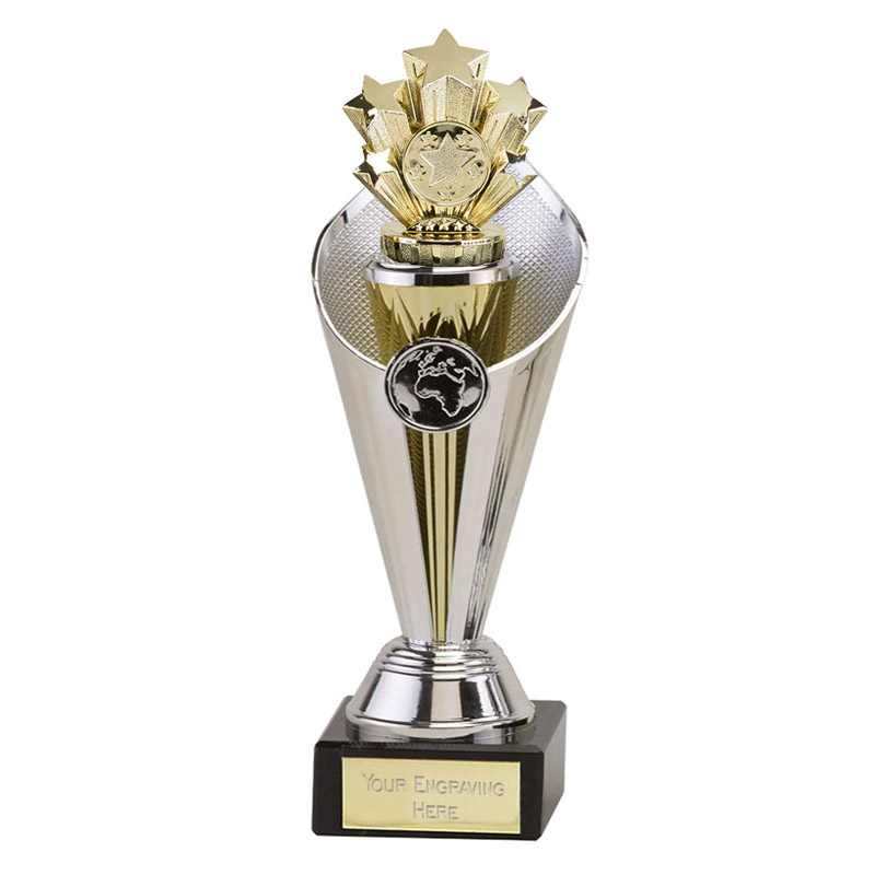 22cm Gold Five Star Figure on Beacon Award