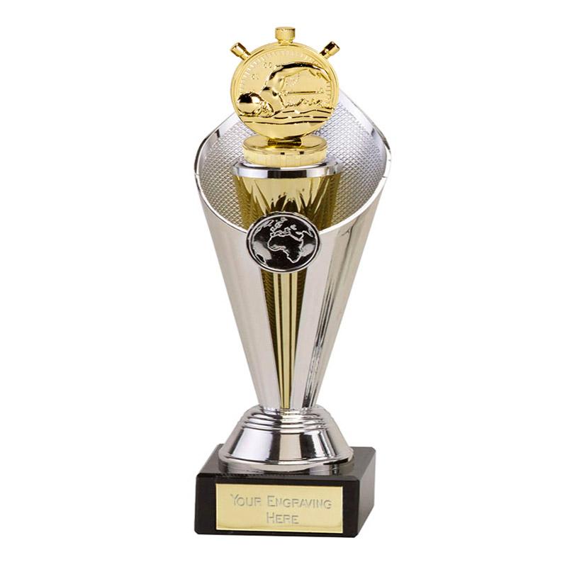 24cm Gold Swimming Figure on Swimming Beacon Award