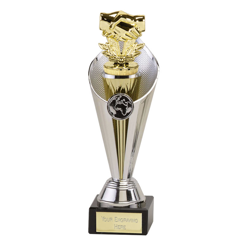 24cm Gold Handshake Figure On Beacon Award