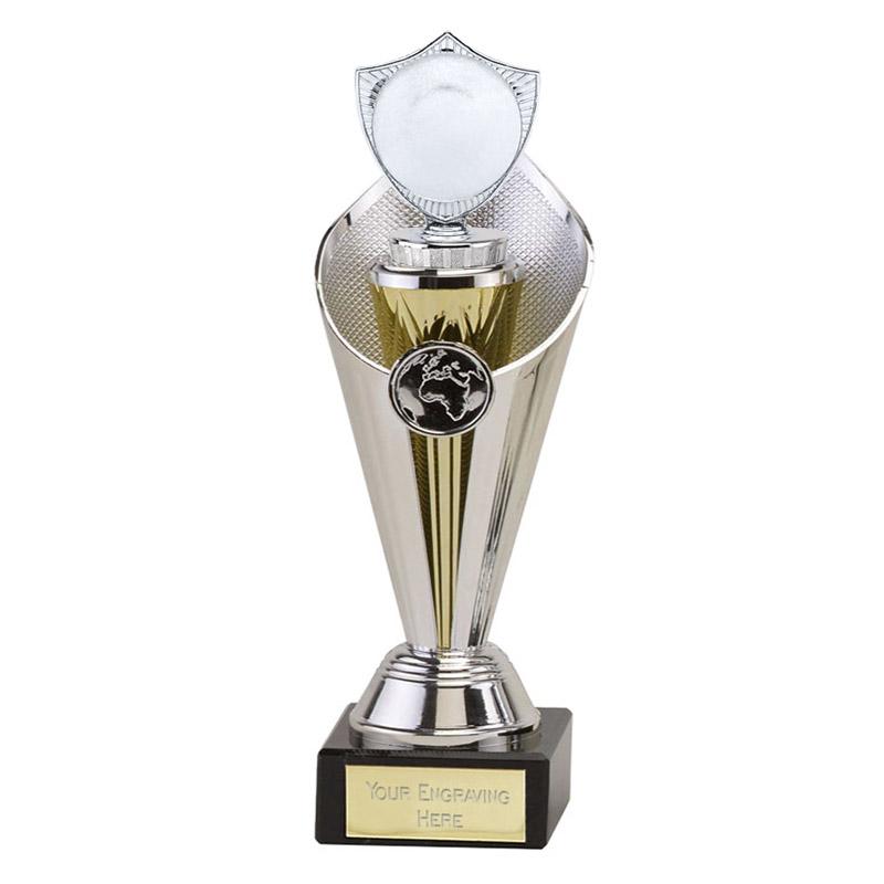 "24cm Silver 2"" Centre Shield Figure on Beacon Award"