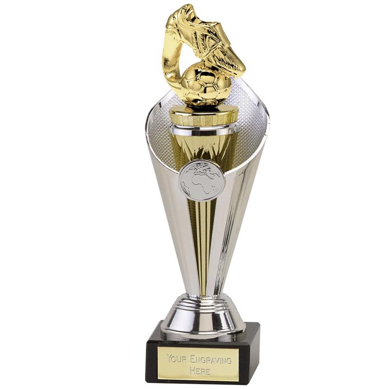 27cm Gold Boot & Ball Figure on Football Beacon Award