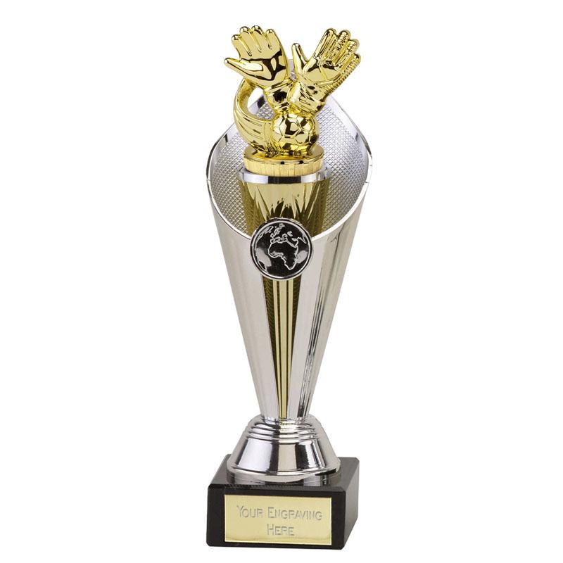 27cm Gold Keeper Glove Figure on Football Beacon Award