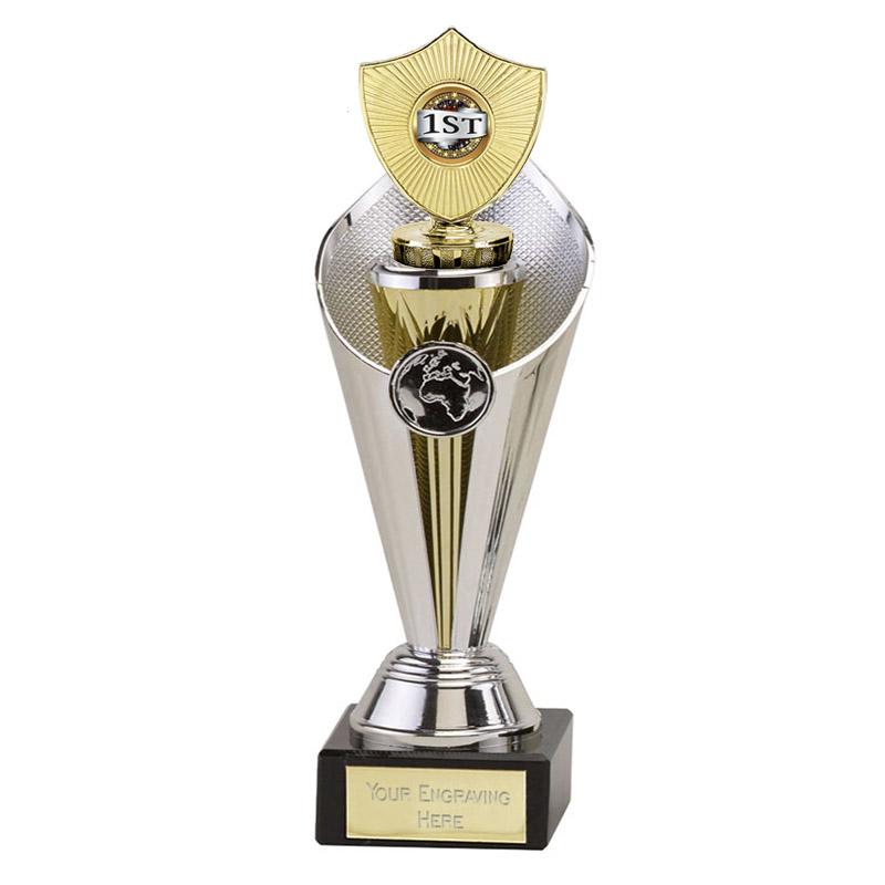 27cm Gold Centre Shield Figure on Beacon Award