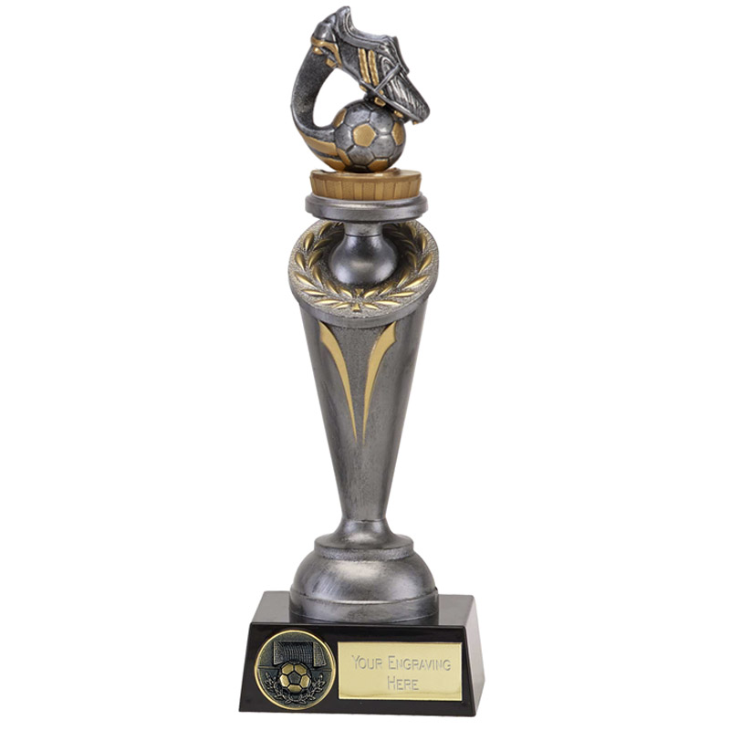 22cm Boot & Ball Wave Figure on Football Crucial Award