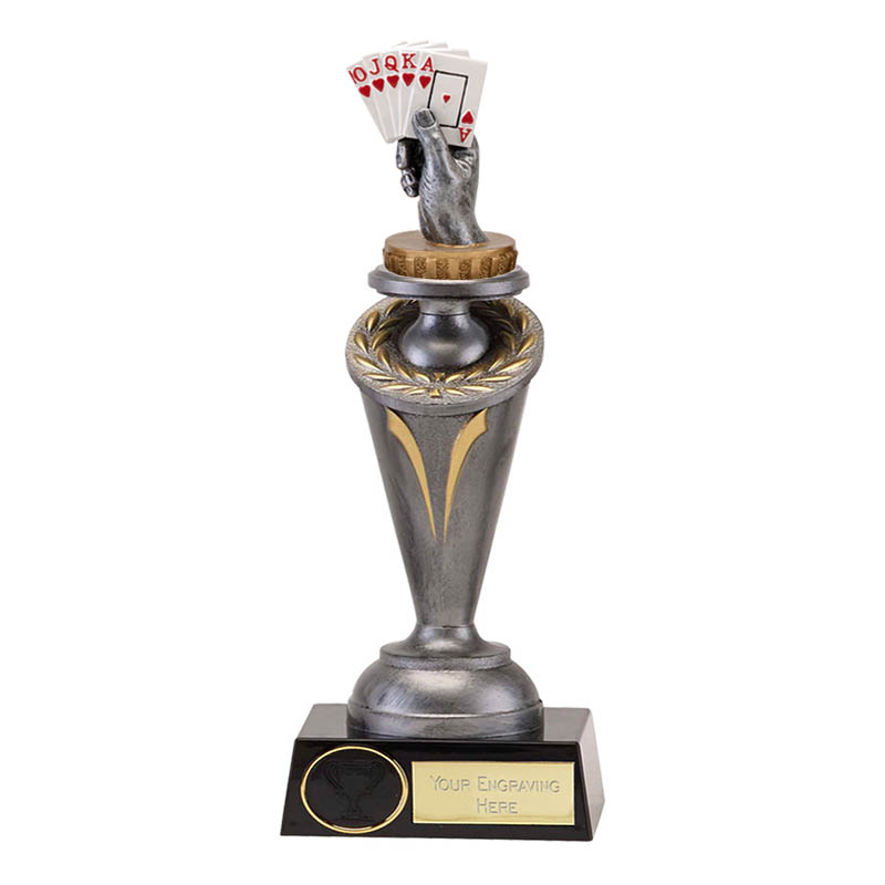 22cm Playing Cards Figure On Crucial Award