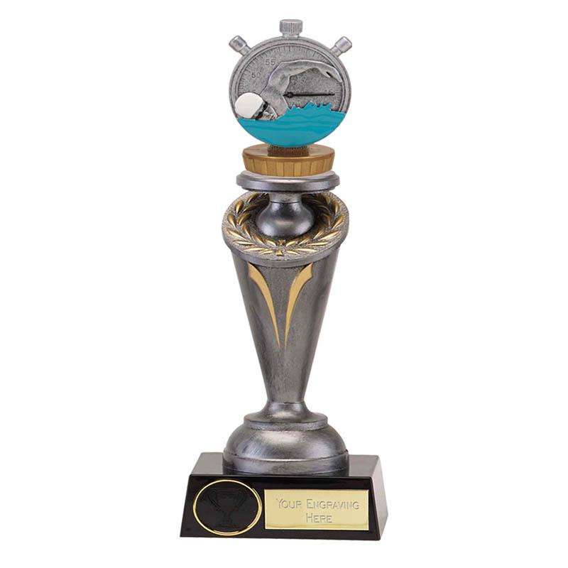 22cm Swimming Figure On Crucial Award