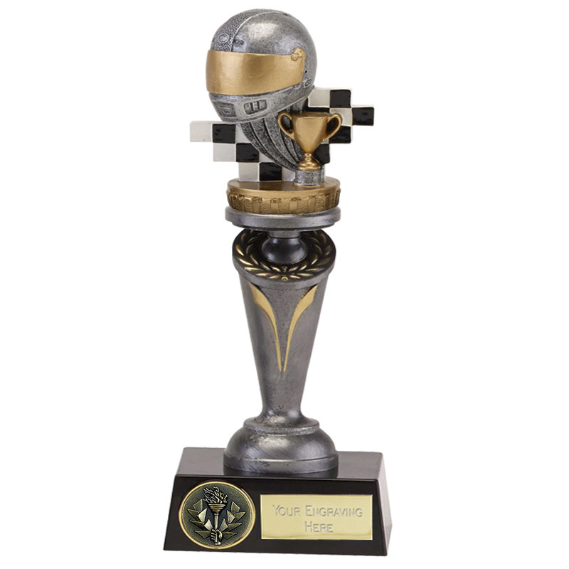 22cm Motorsports Neutral Figure On Crucial Award