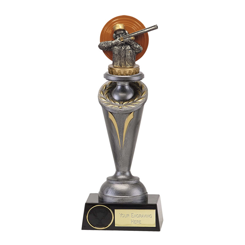 22cm Clay Shooting Figure on Shooting Crucial Award