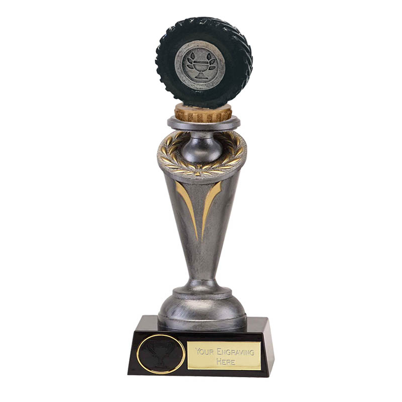 22cm Tractor Tyre Figure On Crucial Award