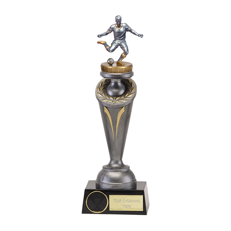 22cm Footballer Male Figure on Football Crucial Award