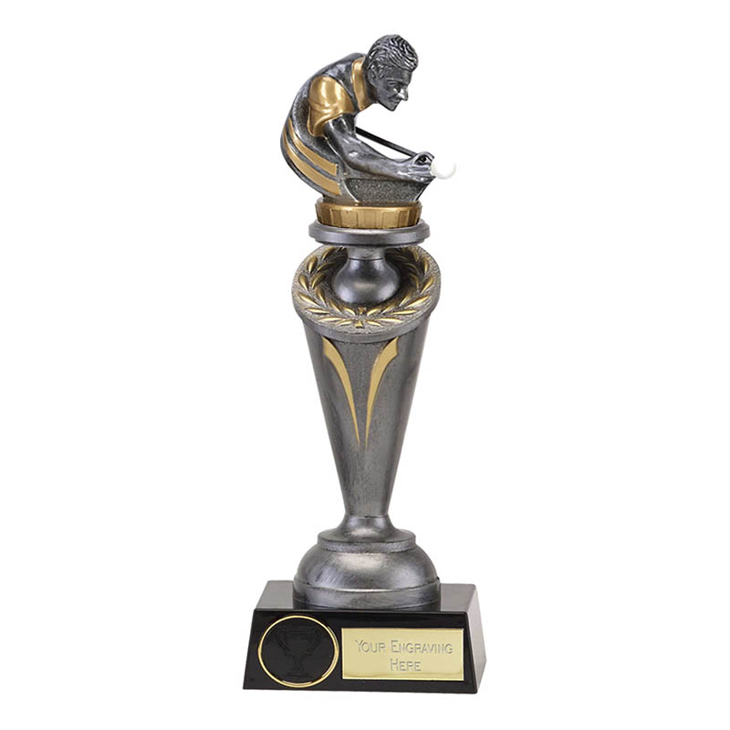 24cm Snooker & Pool Figure On Crucial Award