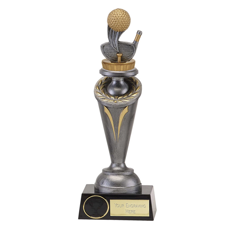 24cm Golf Figure On Golf Crucial Award