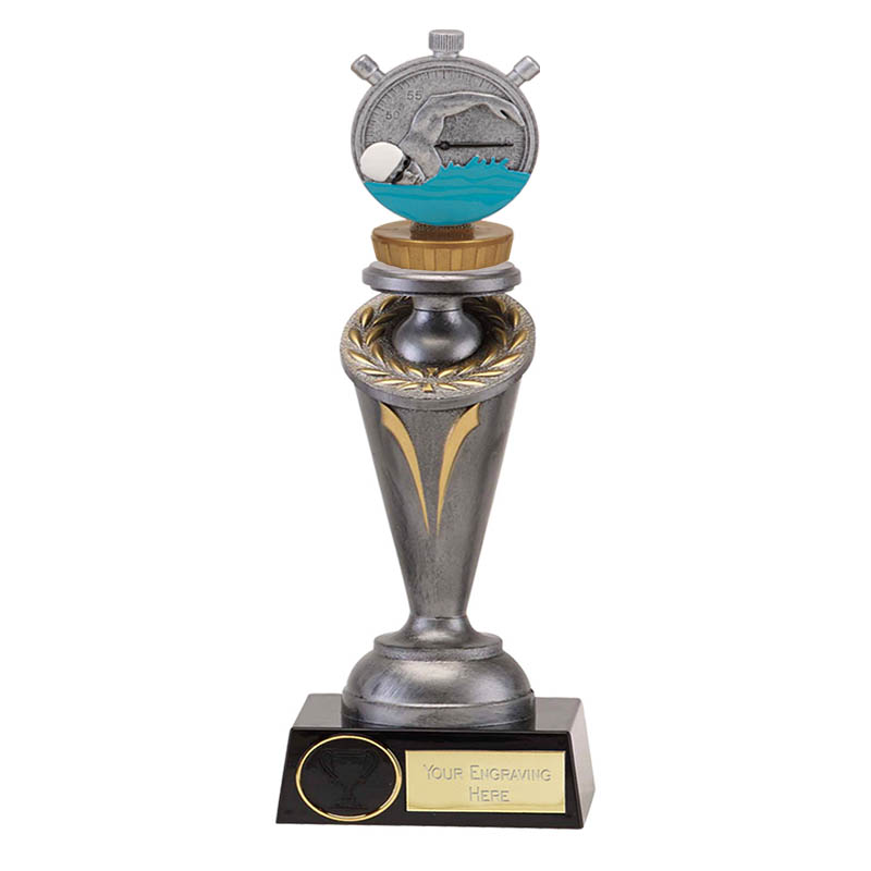 24cm Swimming Figure On Crucial Award
