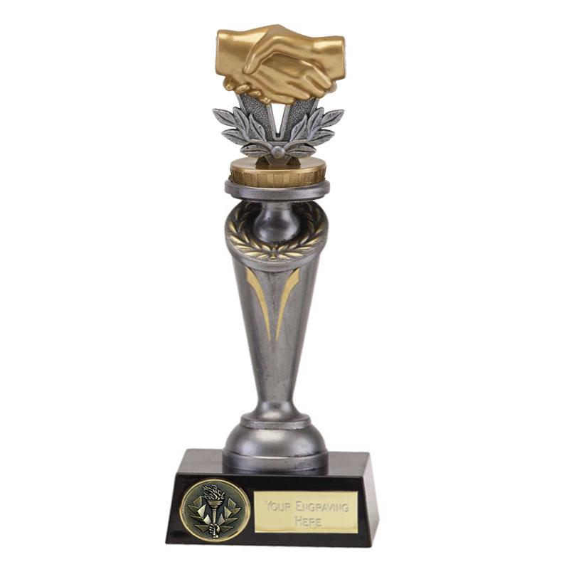 24cm Handshake Figure On Crucial Award
