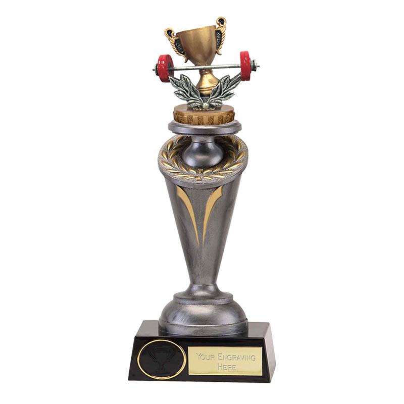 24cm Weightlifting Figure On Crucial Award