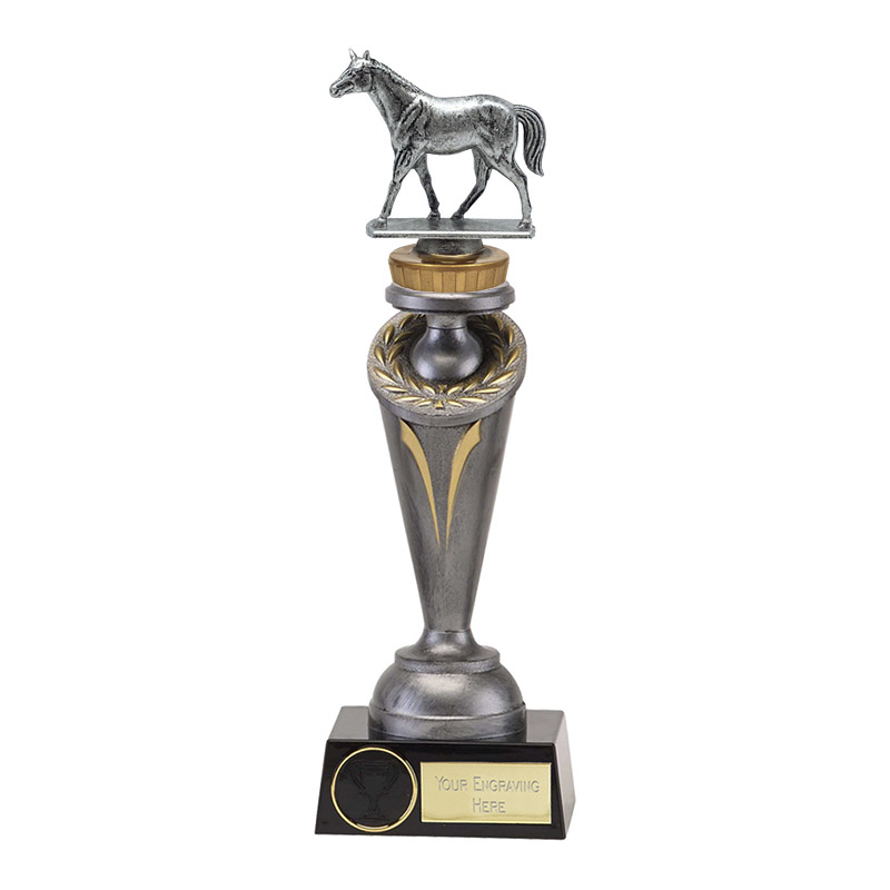 24cm Quarter Horse Figure On Horse Riding Crucial Award