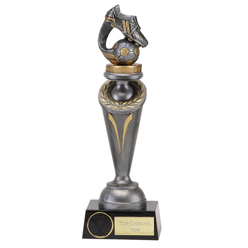 26cm Boot & Ball Wave Figure on Football Crucial Award