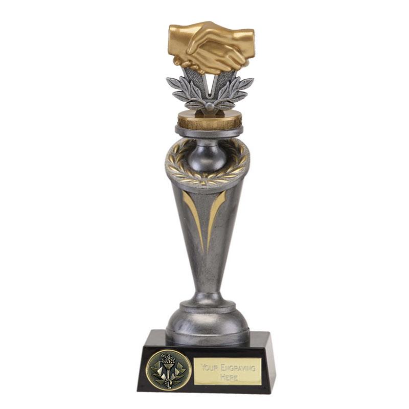 26cm Handshake Figure on Crucial Award