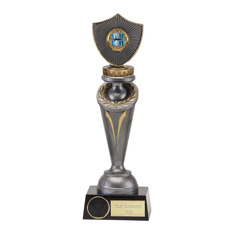 26cm Centre Shield Figure on Crucial Award