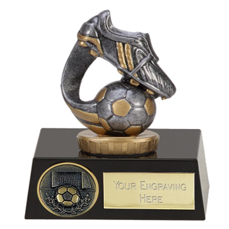 11cm Boot & Ball Wave Figure on Football Meridian Award