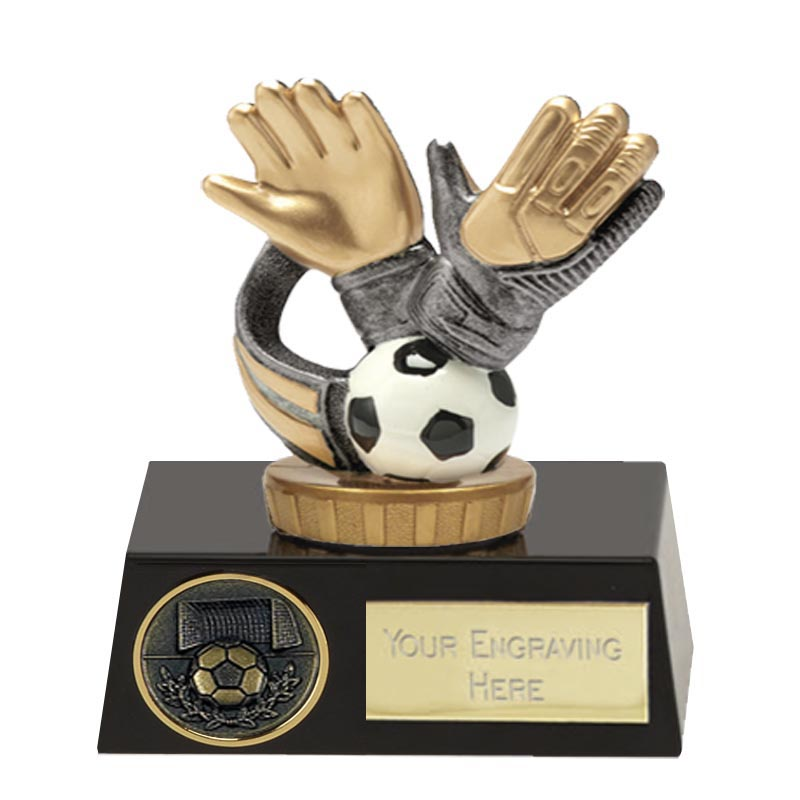 11cm Keeper Glove Figure On Football Meridian Award