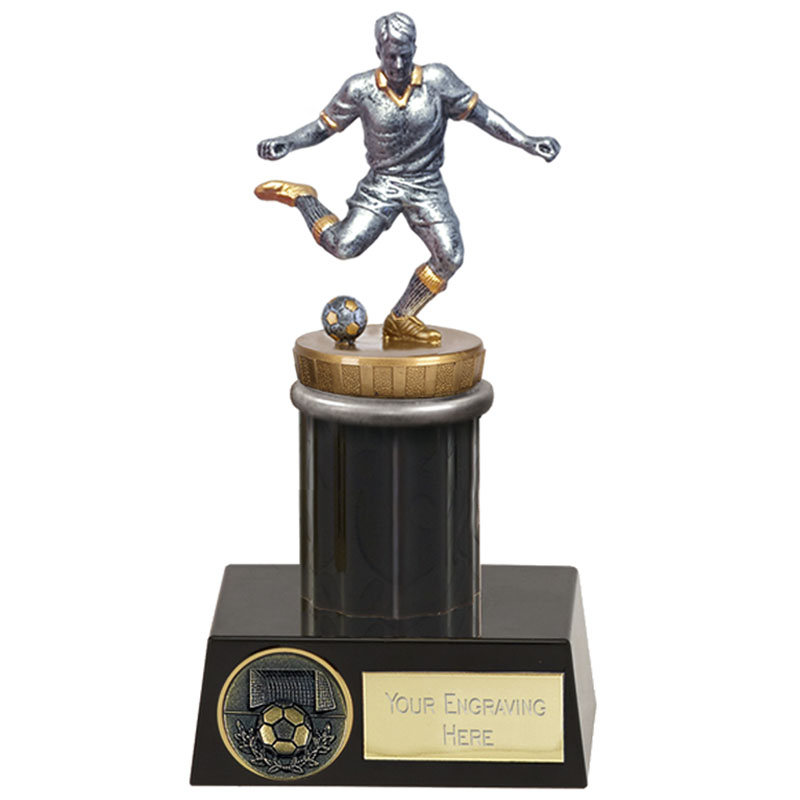16cm Footballer Male Figure On Meridian Award