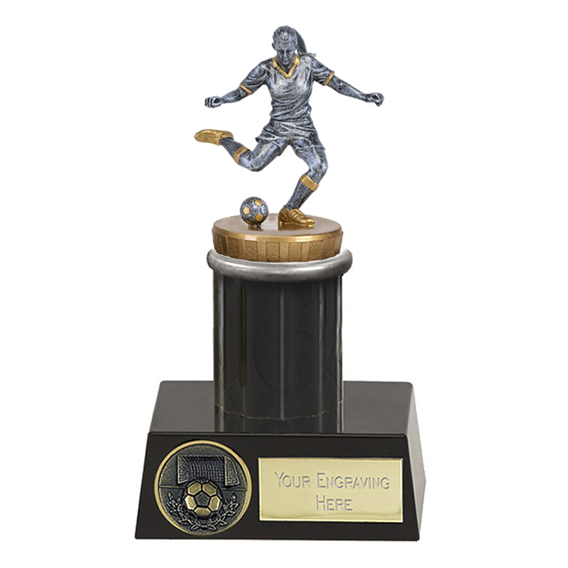16cm Footballer Female Figure on Football Meridian Award