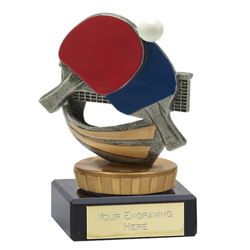 4 Inch Table Tennis Figure On Classic Award