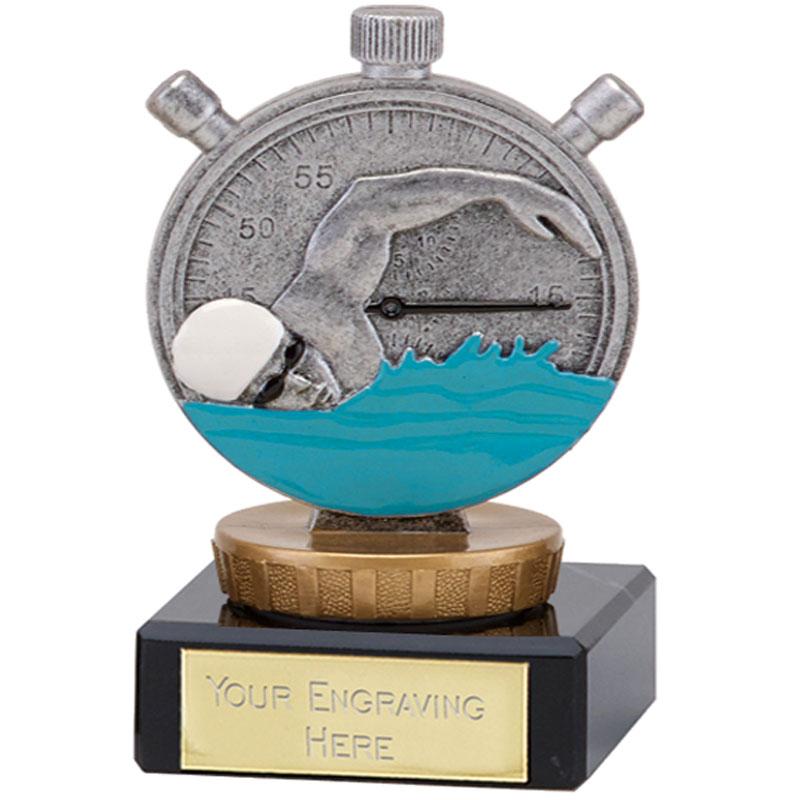 4 Inch Swimming Figure On Classic Award
