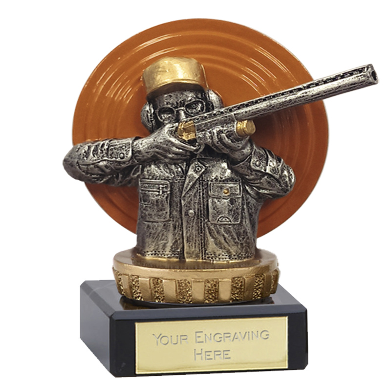 4 Inch Clay Shooting Figure On Classic Award
