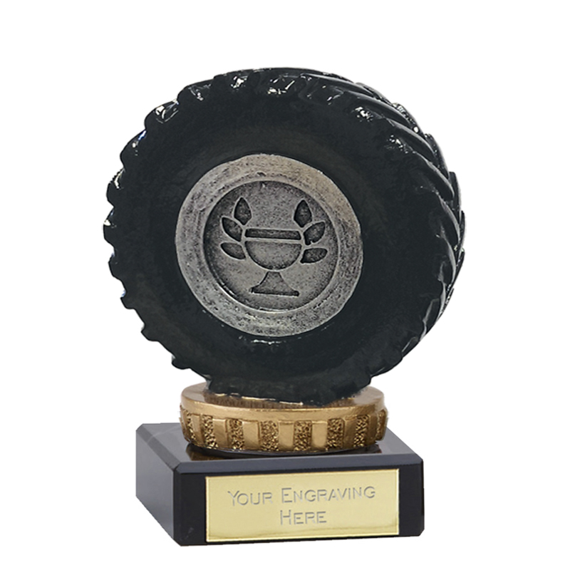 4 Inch Tractor Tyre Figure On Classic Award