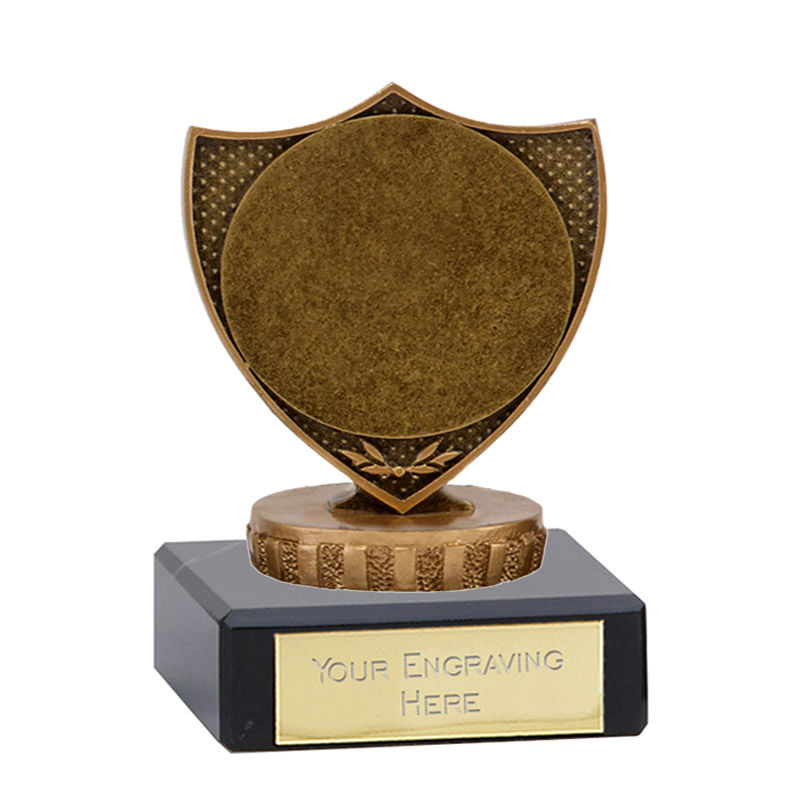 "4 Inch Shield With 2"" Centre Figure On Classic Award"