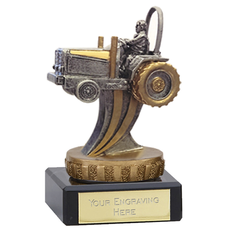 4 Inch 3D Tractor Figure On Classic Award
