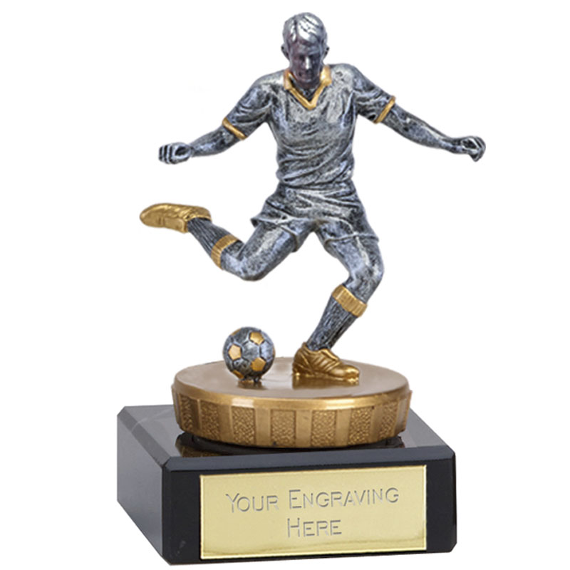 4 Inch Footballer Male Figure On Classic Award