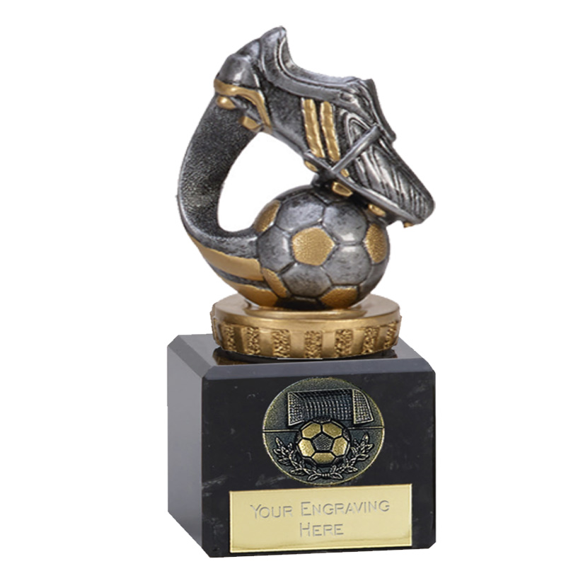 12cm Boot & Ball Wave Figure On Football Classic Award