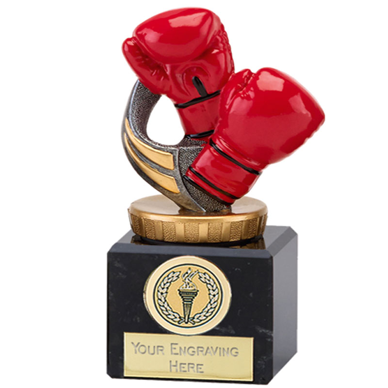12cm Boxing Figure On Classic Award