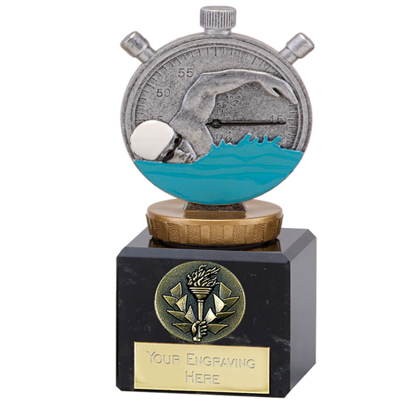 12cm Swimming Figure On Classic Award
