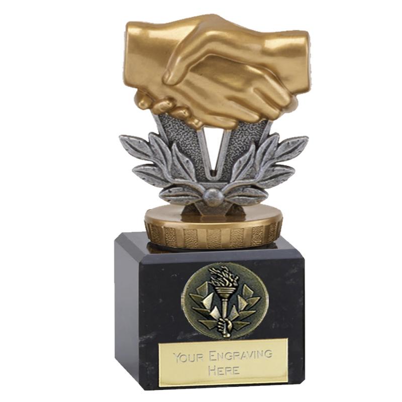 12cm Handshake Figure on Classic Award