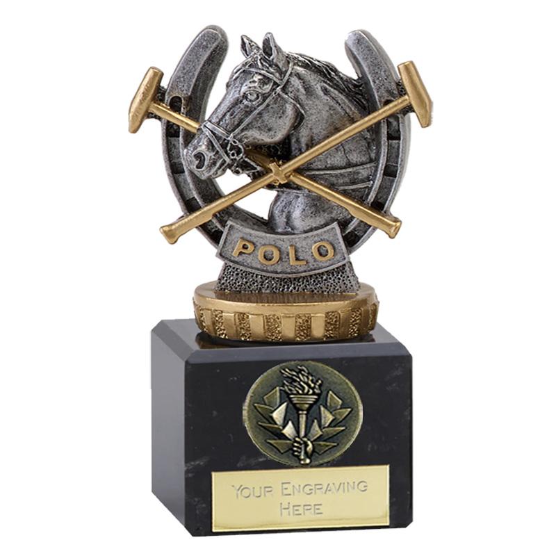 12cm Horse Polo Figure on Horse Riding Classic Award