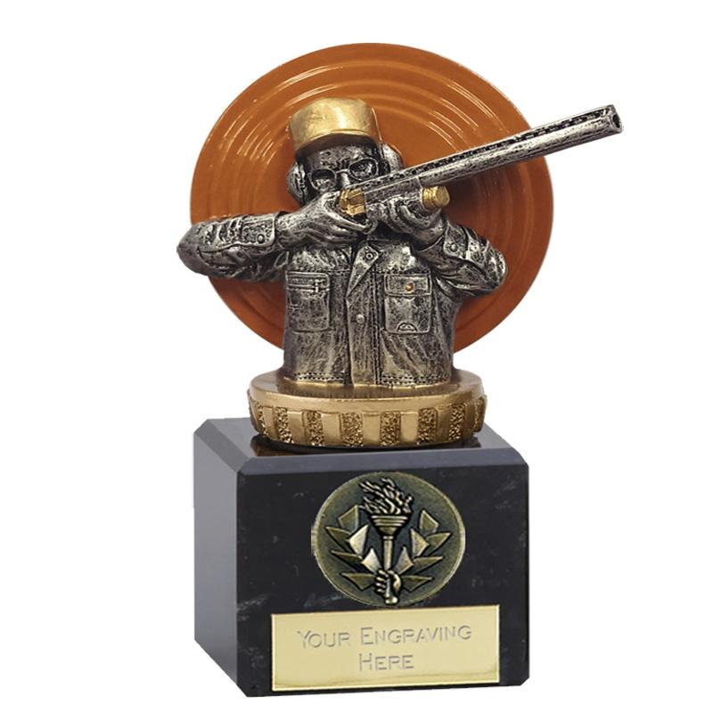 12cm Clay Shooting Figure On Classic Award