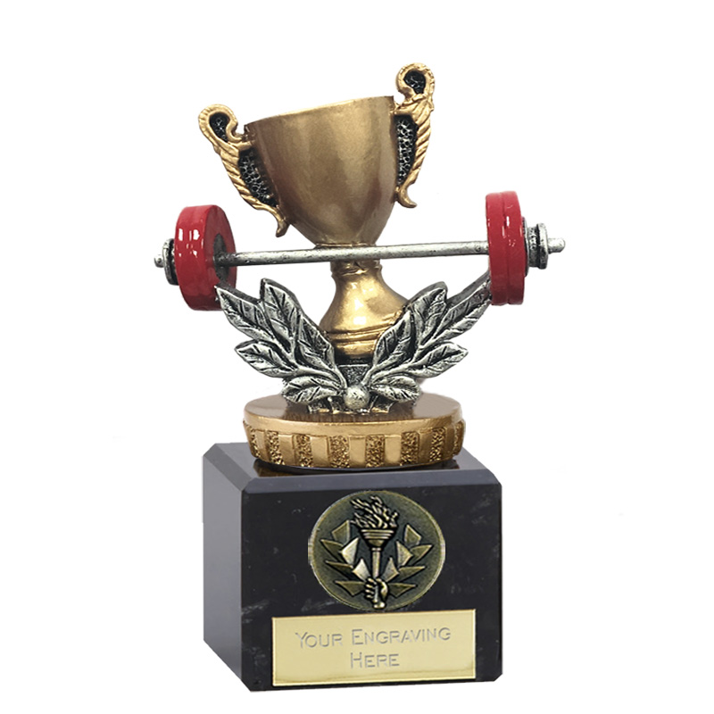 12cm Weightlifting Figure On Classic Award