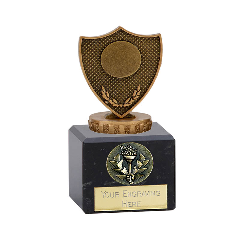 12cm Shield with Centre Figure on Classic Award