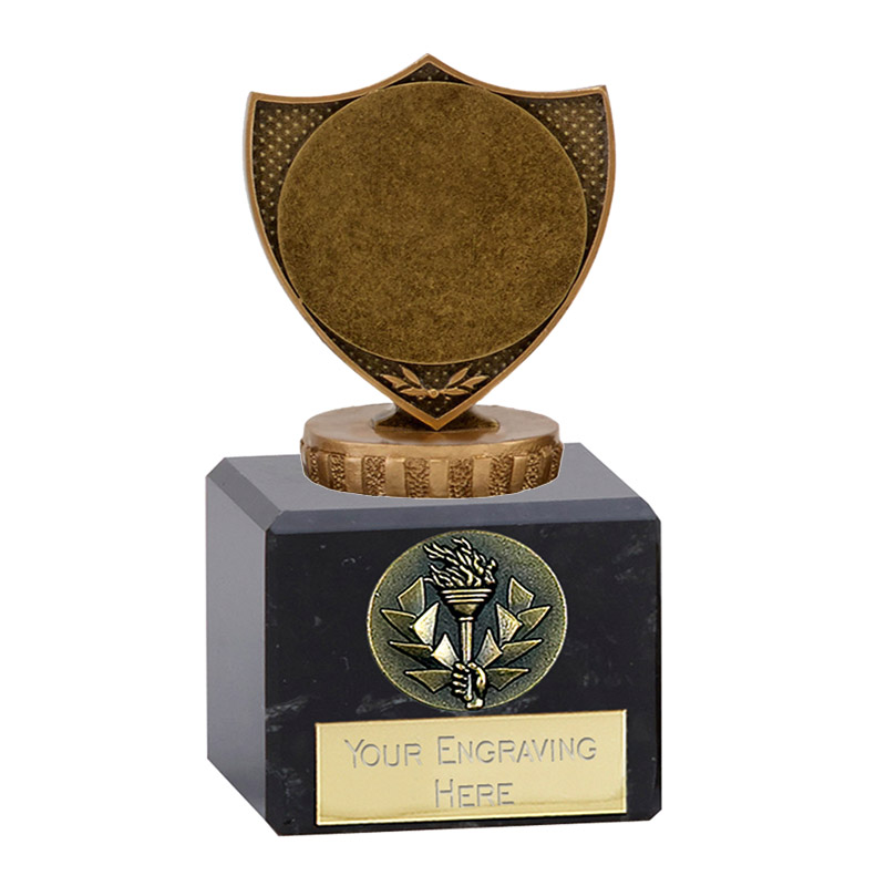 "12cm Shield With 2"" Centre Figure On Classic Award"