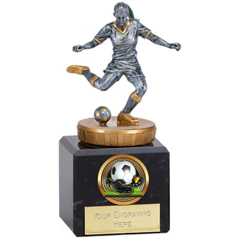 12cm Footballer Female Figure on Football Classic Award
