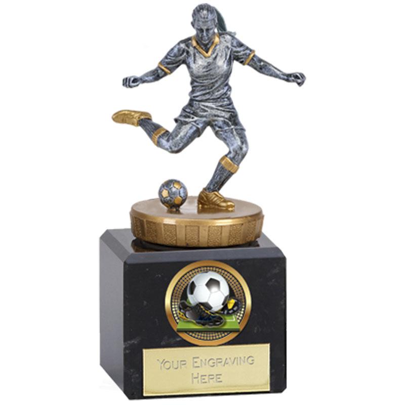 12cm Footballer Female Figure On Classic Award
