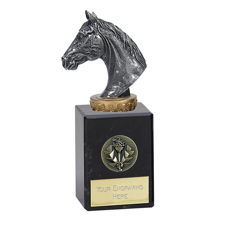 6 Inch Horse Head Figure on Horse Riding Classic Award